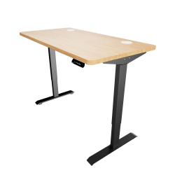 Solos Wood Premium Standing Desk  (Black stands)