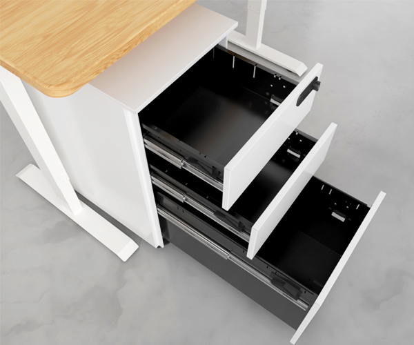 SOLOS file cabinet line fit perfectly under your desk for and organized storage solution