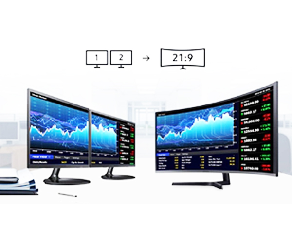 Samsung 890 Series Owans Ultra-Wide, WQHD Resolution Display for a Beautiful Picture