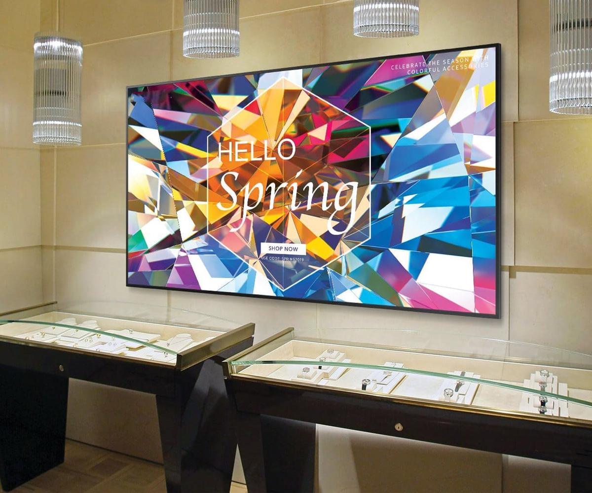 Samsung QB65R commercial signage display
