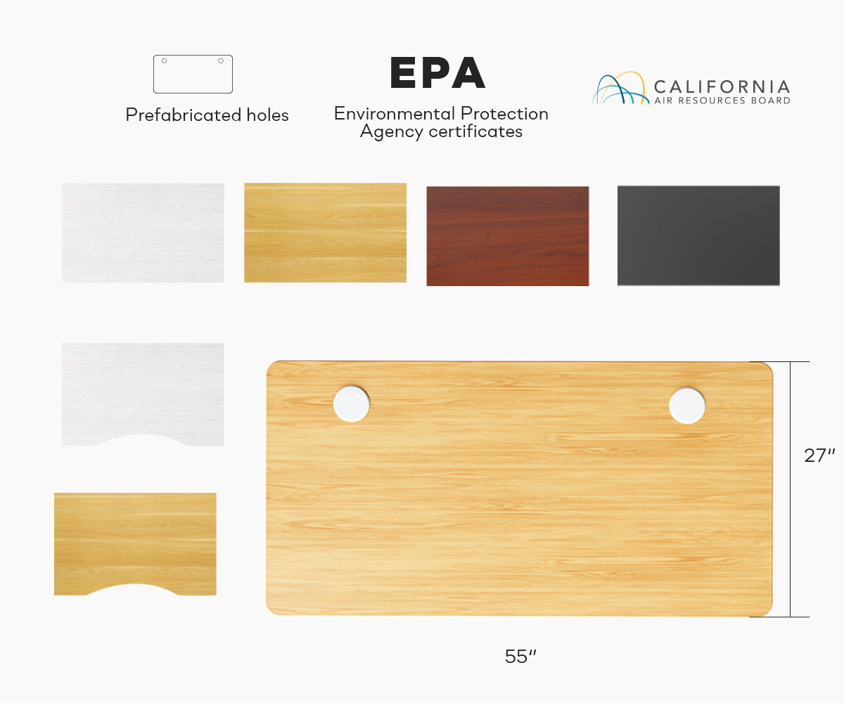 Multiple Types of Desk Boards for SOLOS Premium Standing Desk