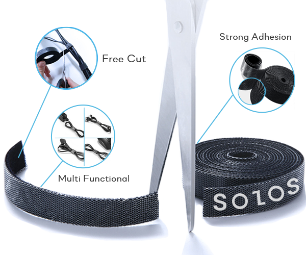 SOLOS Hook and Loop Cable Tie is Perfect For Cable Arrangments