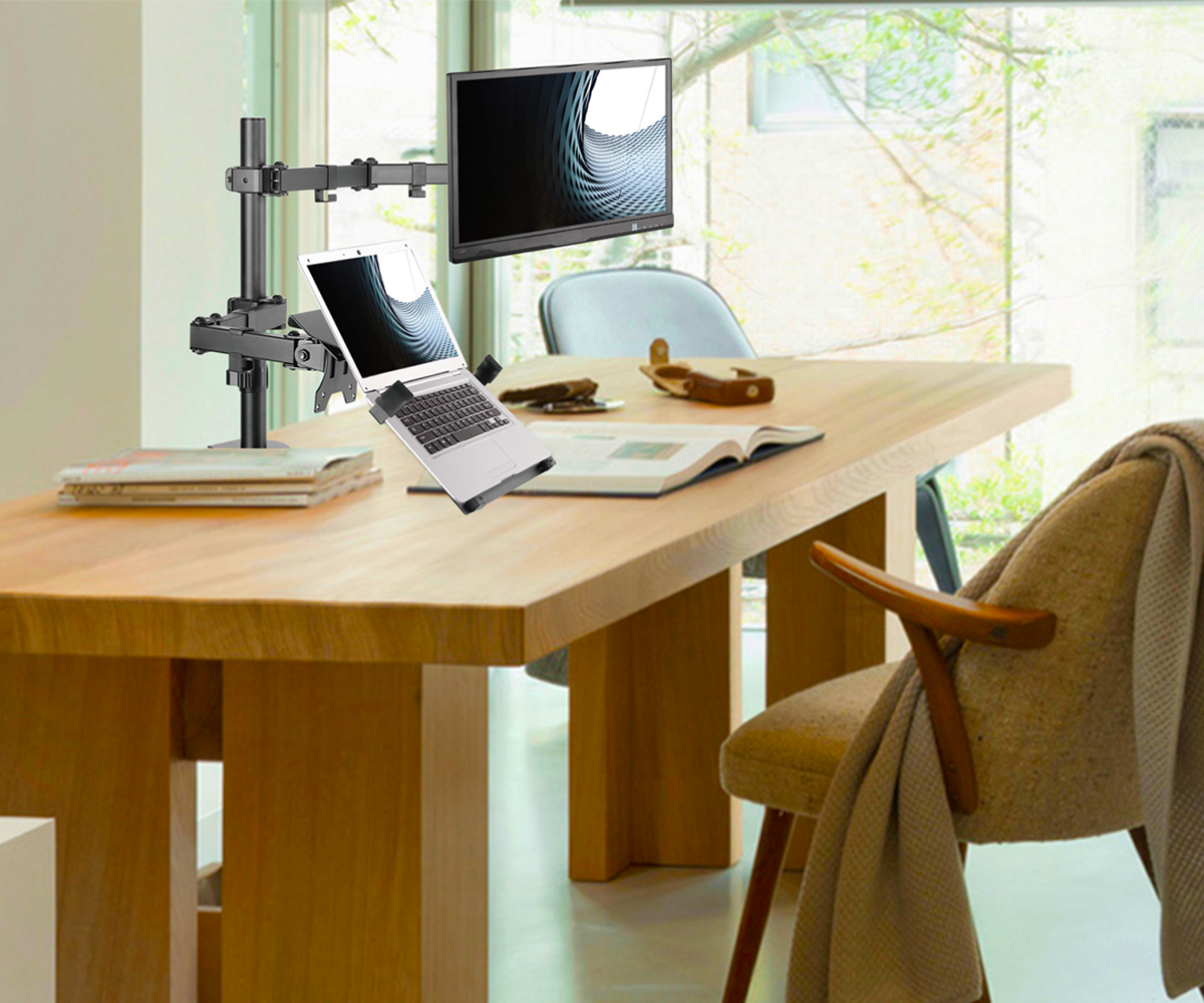SOLOS Monitor Laptop Arm Best is A Space Saving & Organizing Helper