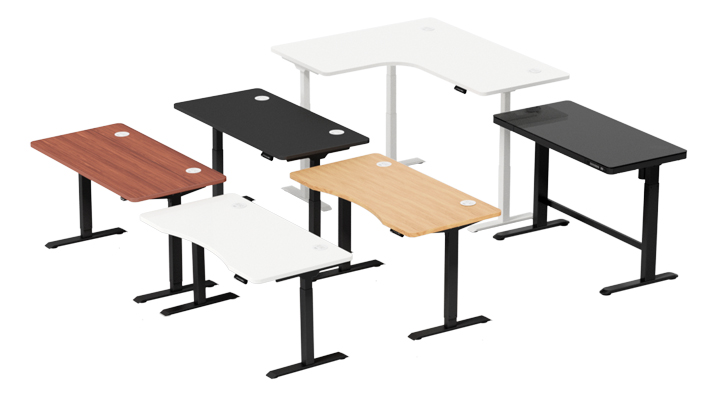 Desks which you stand at whilst working, rather than sitting at